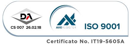 Garanzia qualità ISO 9001 - ABOVO Protevo Group