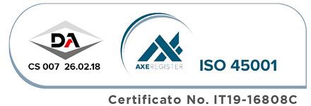 Garanzia qualità ISO 45001 - ABOVO Protevo Group