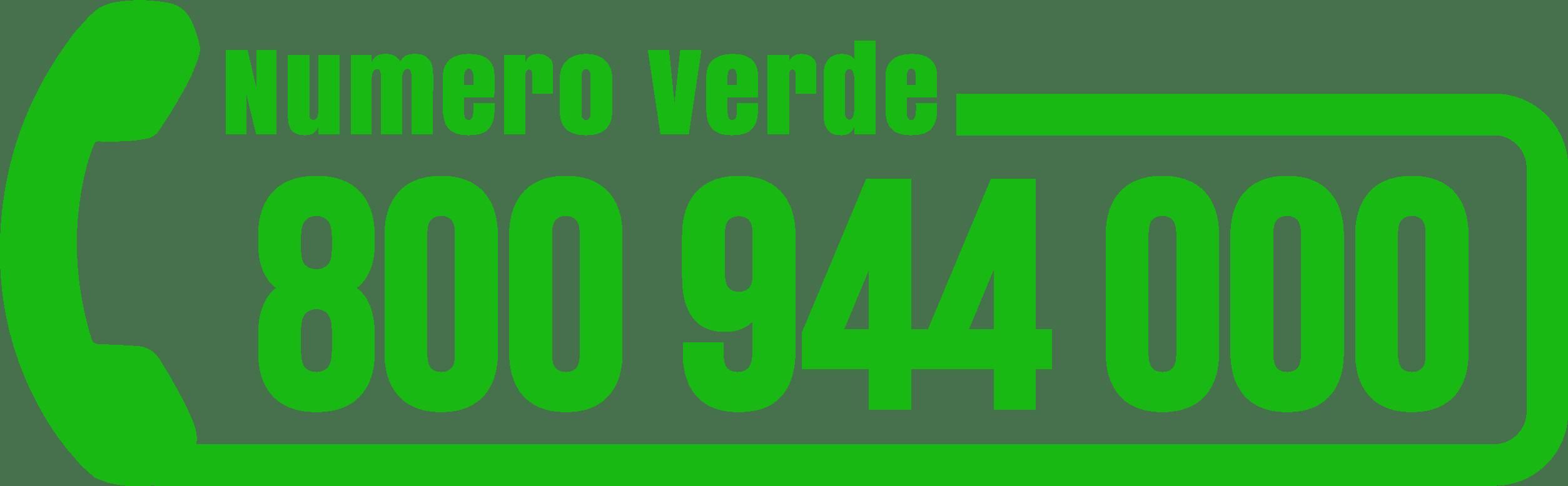 NUMERO VERDE: 800 94 40 00