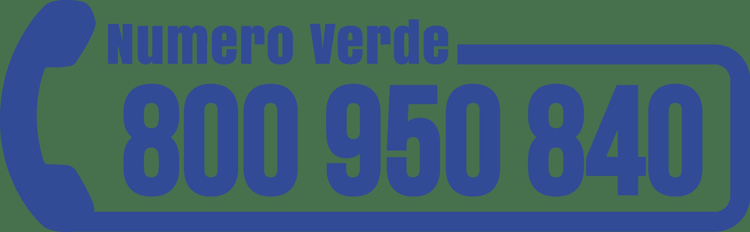 NUMERO VERDE: 800 95 08 40